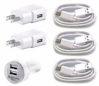 3x USB 2x Wall Charger 1x dual car for Samsung Galaxy S4 S5 S6 GRAND CORE PRIME