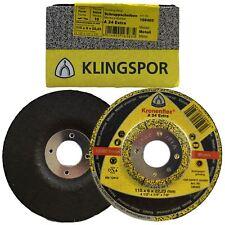 10x KLINGSPOR Schruppscheibe 115x6mm f.Metall gekröpft Bohrung 22,23mm