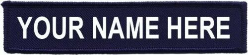 """Name Patch Hook And Loop 5/""""X 1"""" Embroidered Airsoft Security Morale Molle"""