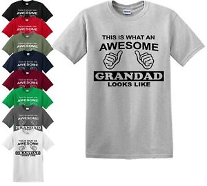 XXL This is What an Awesome Grandad Looks Like T Shirt Gift Sizes S