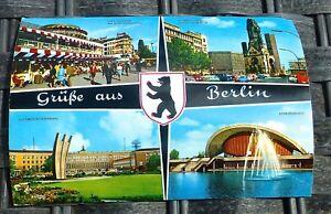 Salutations-de-Berlin-Carte-Postale-50er-60er-Annees-Kruger-921-110-A