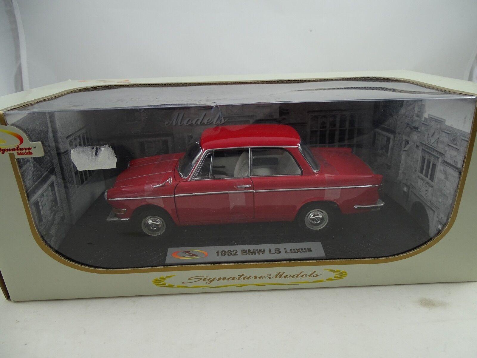 1:18 Signature Models  18125 - 1962 BMW Ls Luxus Rosso - Rarità §