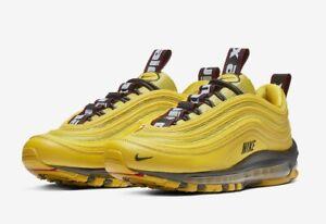 Nuevo Nike Air Max 97 zapatos talla 5Y Negro Amarillo 6.5