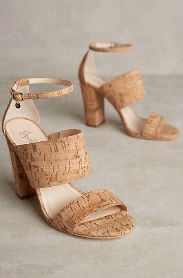popolare Anthropologie Anthropologie Anthropologie Guilhermina Rustica Cork Heels Sandals scarpe Dimensione 9 EUR 40  188.00  economico