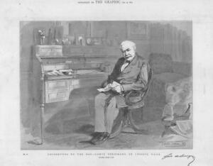 1884-Antique-PORTRAIT-Print-COMTE-FERDINAND-de-LESSEPS-231
