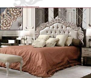Imbottitura Letto Matrimoniale.Letto Matrimoniale Intagliato Imbottito Classico Bianco Oro Ebay