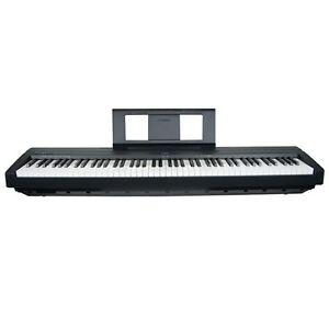 yamaha p45 compact p series digital piano in black ebay. Black Bedroom Furniture Sets. Home Design Ideas