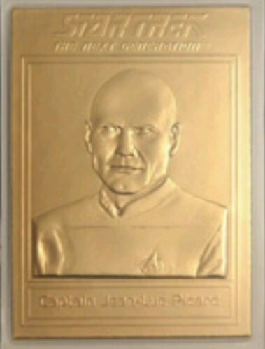 22KT GOLD STAR TREK TNG TRADING CARD JEAN LUC PICARD