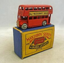 Moko Lesney Matchbox Toys MB5a London Bus Script Box