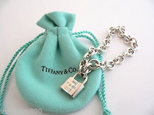 Image Is Loading Tiffany Amp Co 1837 Silver Padlock Lock Charm