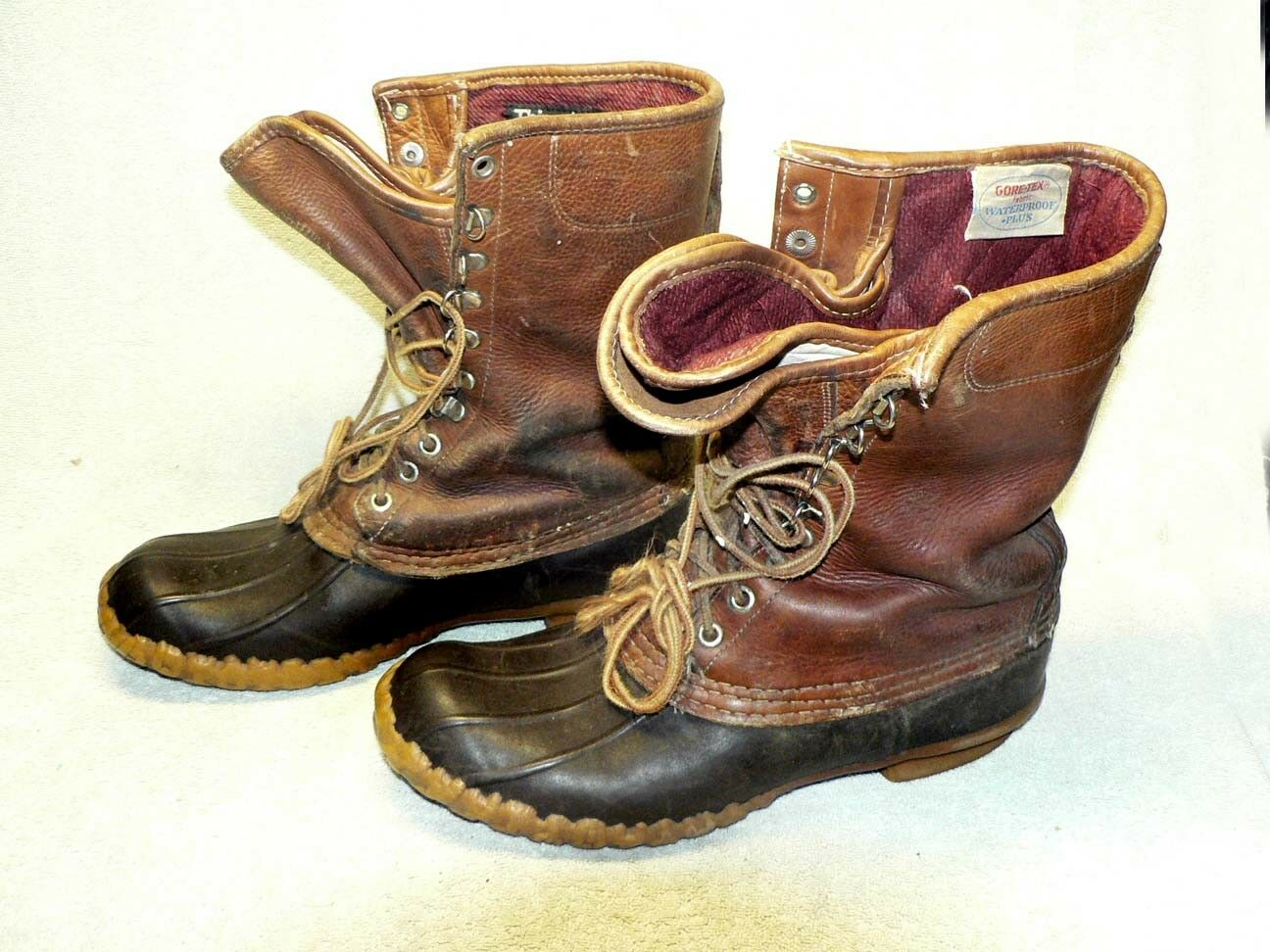 Vintage L.L Bean Maine Chasse Chaussure bottesw Gore-Tex Thinsulate Doubleure Taille 8 M