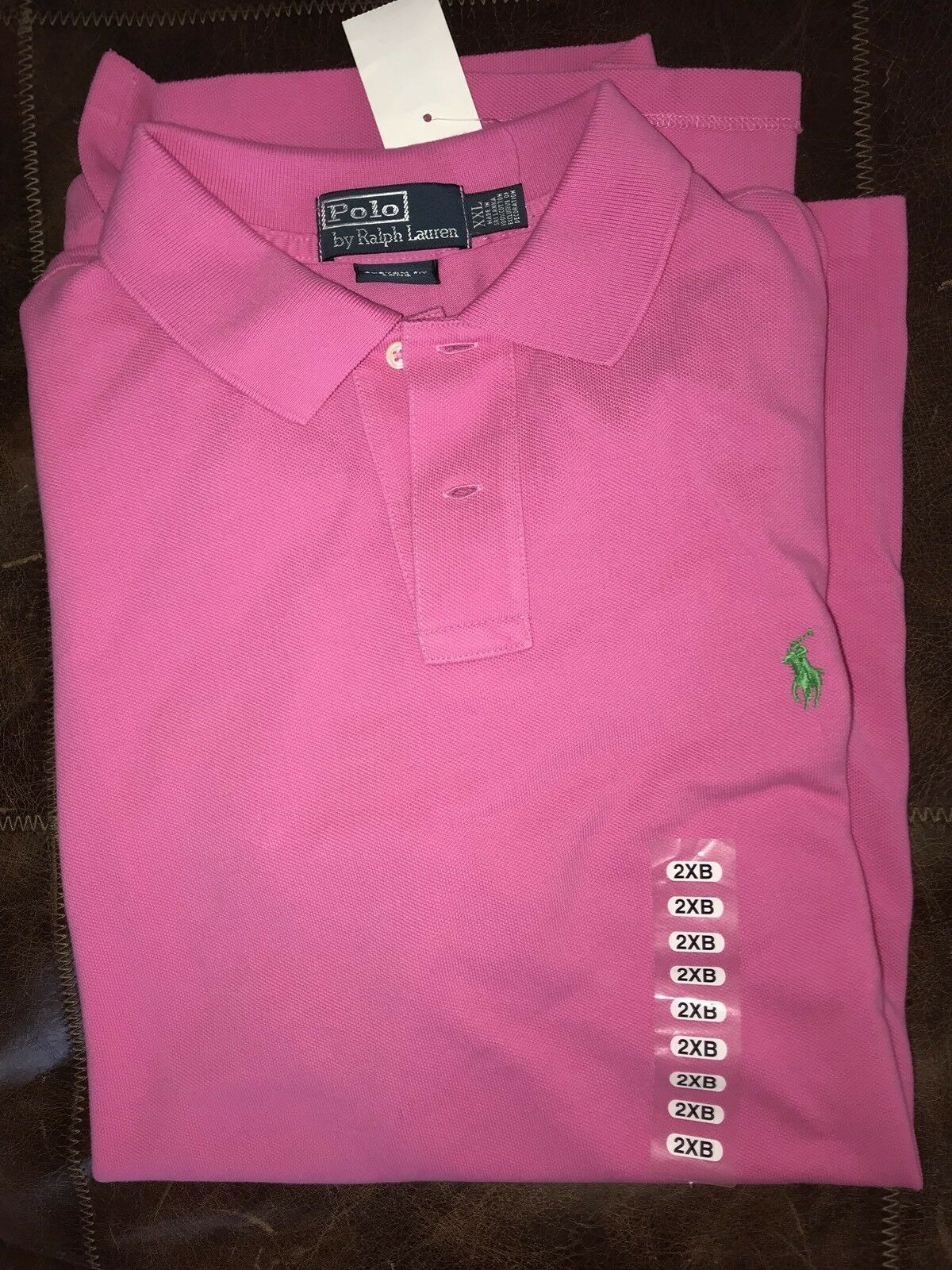 New Polo Ralph Lauren Men Small Pony Pink  Shirt 2XL XXL TALL