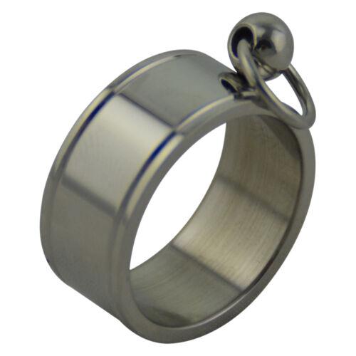 Ring Edelstahlring der O 10mm breit Größenwahl 16-24mm Poliert