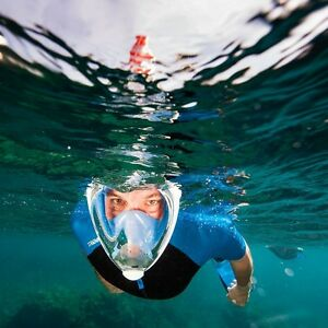 1a8a9e8d6 Image is loading GENUINE-Tribord-Snorkeling-Full-Face-Mask-Easybreath-Dry-