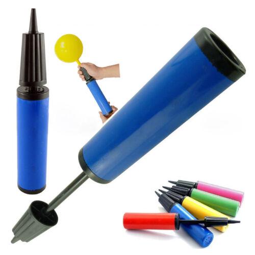 Party ballon pompe à main double action gonflable-assortiment de couleurs décorB