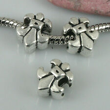 6pcs tibetan silver color 2sided textured spacer beads EF1283