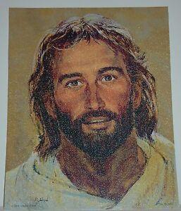 Richard-Frances-Hook-HEAD-OF-CHRIST-Jesus-039-Face-Portrait-10x8-texturized-print