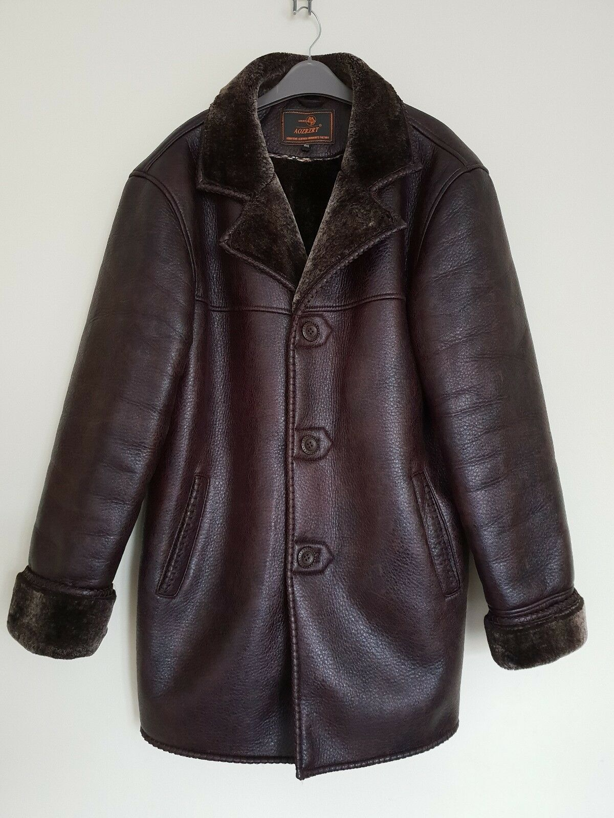 AOZRZRT Mens Dark braun Cosy Jacket Größe L   XL