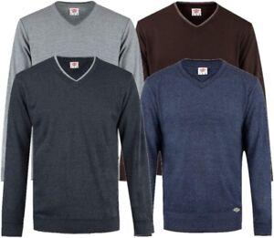 Professioneller Verkauf ✅lee Cooper Herren V-ausschnitt Strick Pullover Sweatshirt Sweater Pulli Jumper Schrecklicher Wert