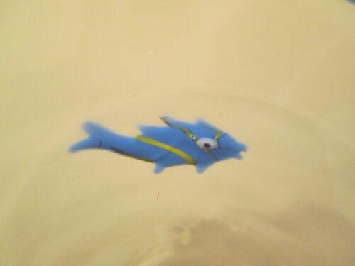 "ANNIEGLASS SANTA CRUZ FISH DESIGN SALAD PLATE 8/"" 0112G signed"