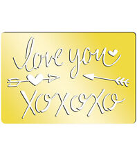 "Momenta Art-C Brass Template - I Love You 3.9""x2.6"" #758"