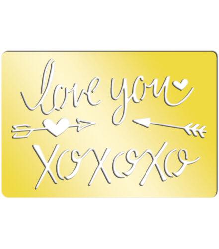 "Momenta Art-C Brass Template I Love You 3.9/""x2.6/"" #758"