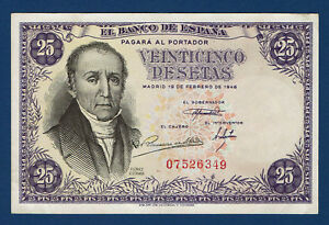 25 PESETAS 1946. FLOREZ ESTRADA. SIN SERIE. EBC - España - 25 PESETAS 1946. FLOREZ ESTRADA. SIN SERIE. EBC - España