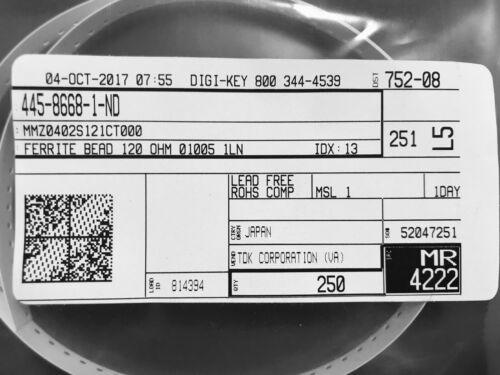 IPHONE IPAD Filtre Ferrite Perle 120 Ohm 210mA 01005