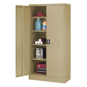 Image Is Loading Global Steel Storage Cabinet Recessed Handle 36 034