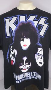 2765e3711d4 Vtg 2000 KISS Farewell Tour 1973-2000 Legends Never Die T-Shirt ...