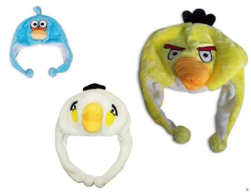 Angry Birds Kids soft Hat Beanie Pom Poms Boys Girls Fancy Plush Fleece Winter