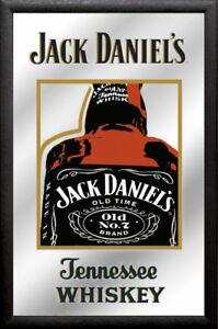 Jack Daniels Old No 2-20x30 cm bedruckter Spiegel im Kunststoff Rahmen