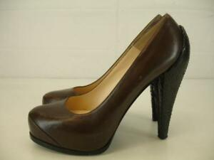 95d323cd2cd  950 Womens 6.5 7 37 3.1 Phillip Lim Brown Leather Snakeskin ...