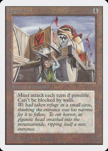 Juggernaut Unlimited HEAVILY PLD Artifact Uncommon MAGIC GATHERING CARD ABUGames