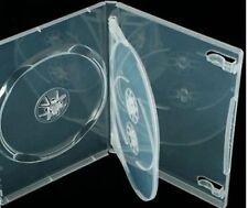 2 X Super Chiaro Triplo 3 Way DVD / CD Casi da 14 mm Spine 100% di materiale vergine