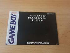 Original Anleitung Nintendo Gameboy Classic