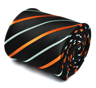 Marineblau Mit Orange & Hellblau Herren Hochzeit Krawatte Von Frederick Thomas Schrecklicher Wert