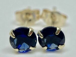 9K-SOLID-YELLOW-GOLD-ROUND-SAPPHIRE-SOLITAIRE-STUDS-EARRINGS