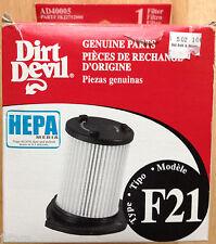 (1) DIRT DEVIL VACUUM CLEANER EXHAUST AIR FILTER, VISION BAGLESS, F21, NEW