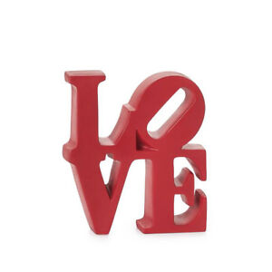 Image Is Loading Love Word Art Decor Red Resin By Robert