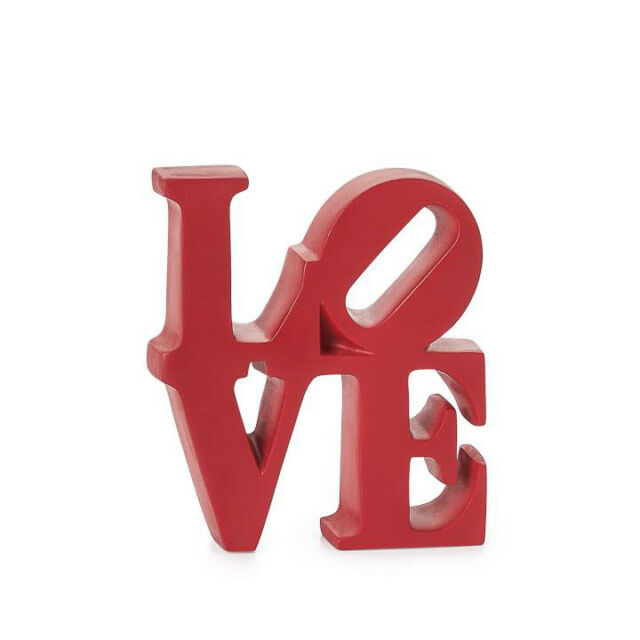 Red Resin Robert Indiana Love Word Art