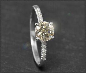 0-77ct-Brillant-Damen-Ring-champagner-Solitaer-Diamant-aus-585-Gold-Weissgold