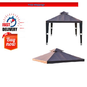 Outdoor Gazebo Canopy Top Roof Cover 3x3m Double Tier Tent Replacement Pavilion 5055974848726 Ebay