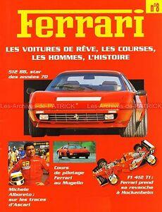FERRARI-512-BB-F1-412-T1-612-Can-Am-Michele-ALBORETO-Arturo-MERZARIO-Fascicule-8