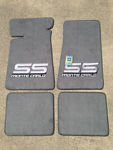 Carpeted Floor Mats Large Gray Monte Carlo Ss On Gray Ebay