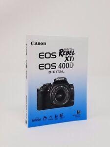 canon rebel xti eos 400d genuine instruction owners manual book rh ebay com Canon EOS Rebel Rebel XSi