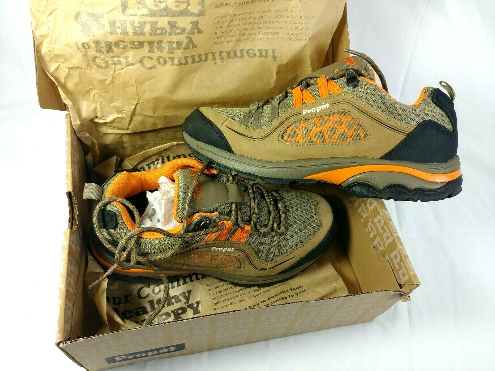 Gunsmoke//Orange 9 Wide US Propet Womens Piccolo Hiking Boot