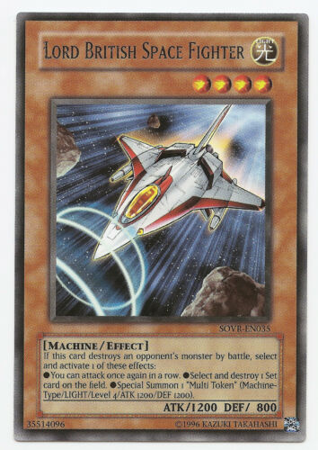 Lord British Space Fighter SOVR-EN035 Rare Yu-Gi-Oh Card English Mint New U