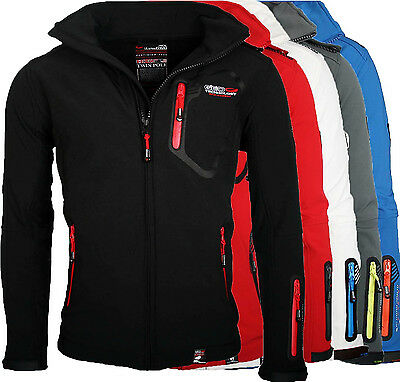 Geographical Norway Tsunami Herren Softshell Funktions Outdoor Jacke wasserfest