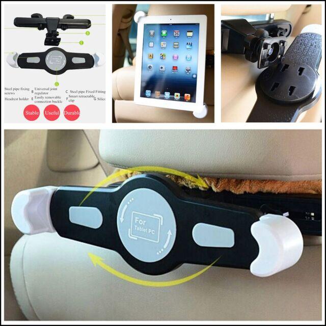 Auto SUV Headrest 360°Rotatable Support iPad Mini Tablet PC handle Bracket Clip